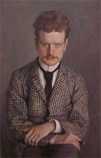 Портрет Сибелиуса работы Ээро Ярнефельта (1892)
